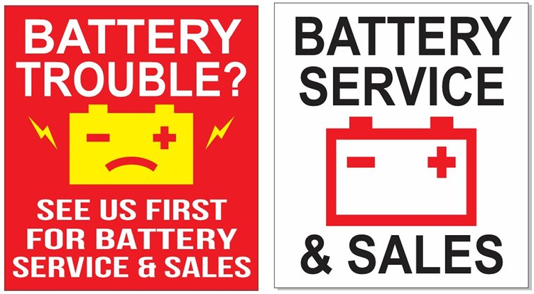 battery sign opinions
