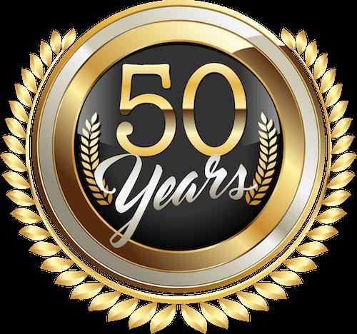 50 year badge